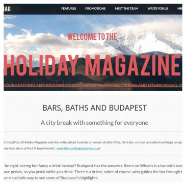budapestUNDERGUIDE in Holiday Magazine