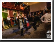 Folk dance team building in a ruin pub