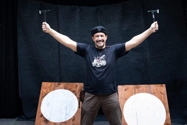 Hungarian Axe Throwing Challenge